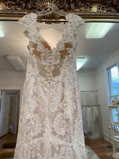 Maggie Sottero Ivory - Chauncey Formal Wedding Dress Size 14 (L) Image 4