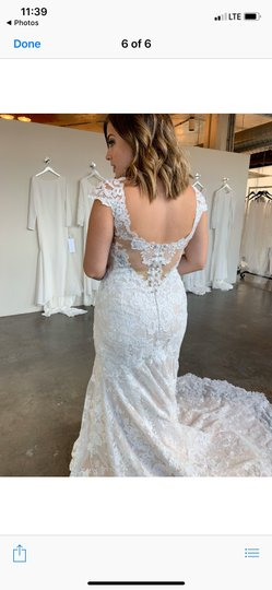Maggie Sottero Ivory - Chauncey Formal Wedding Dress Size 14 (L) Image 6