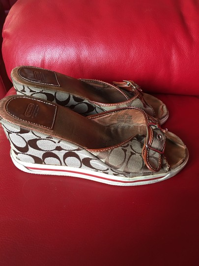 Coach brown Wedges Image 2