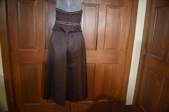 Forever Yours International Brown Chocolate Strapless Traditional Bridesmaid/Mob Dress Size 4 (S) Image 5