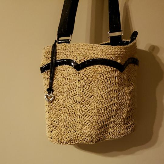Preload https://item4.tradesy.com/images/brighton-over-cross-bodythis-jute-black-and-tan-patent-leather-shoulder-bag-26250038-0-0.jpg?width=440&height=440