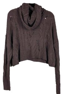 Free People Cropped Open Knit Slouchy Cable Knit Sweater