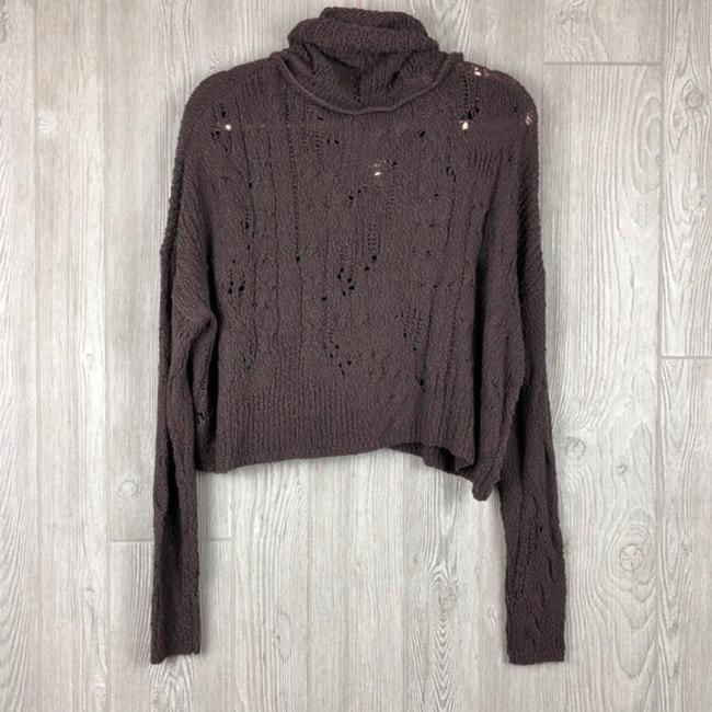 Free People Cropped Open Knit Slouchy Cable Knit Sweater Image 1
