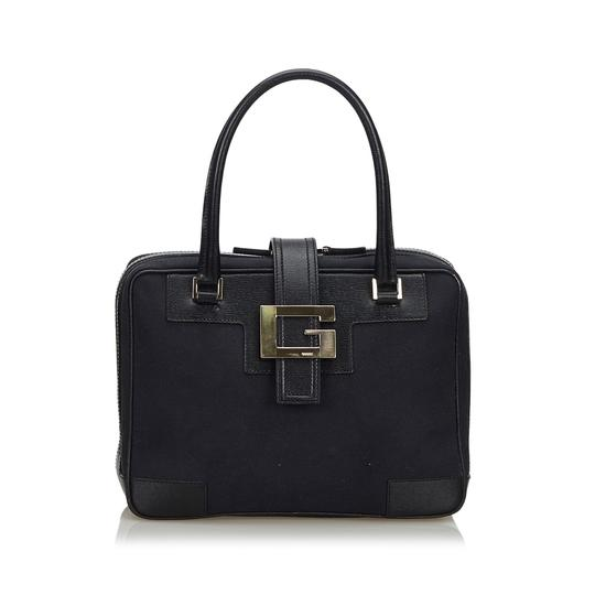 Preload https://img-static.tradesy.com/item/26250105/gucci-canvas-fabric-handbag-italy-black-leather-shoulder-bag-0-0-540-540.jpg