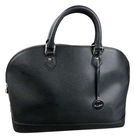 Pulicati Leather Large Satchel in Black Image 0