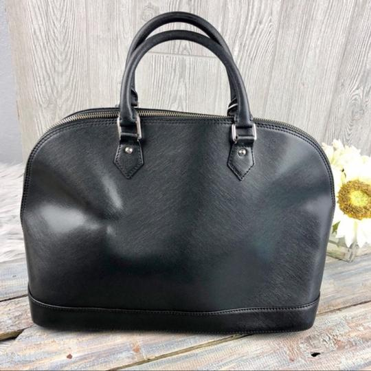 Pulicati Leather Large Satchel in Black Image 2