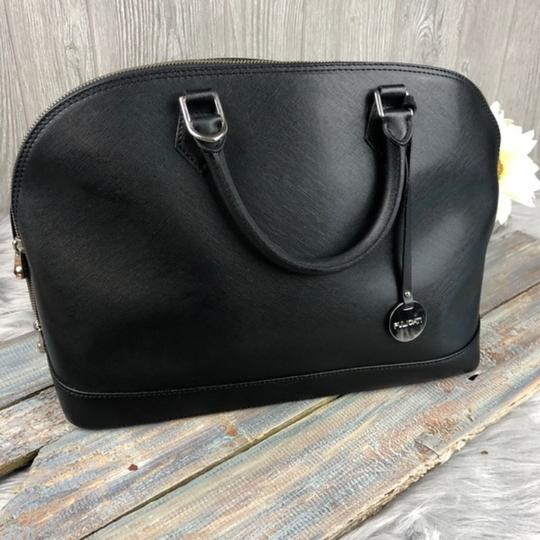 Pulicati Leather Large Satchel in Black Image 6