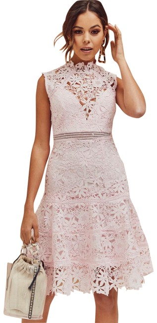 Preload https://img-static.tradesy.com/item/26250200/bardot-white-elise-lace-mid-length-cocktail-dress-size-8-m-0-1-650-650.jpg