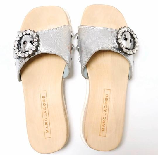 Marc Jacobs Silver, Wood, White Sandals Image 1