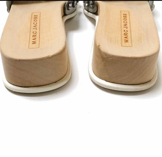 Marc Jacobs Silver, Wood, White Sandals Image 3