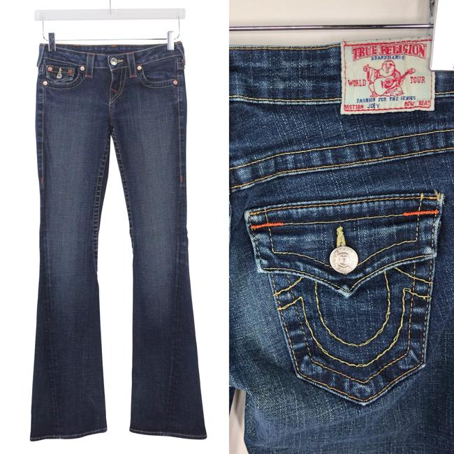 True Religion Premium Denim Joey Cut Boho Flare Leg Jeans-Medium Wash Image 3