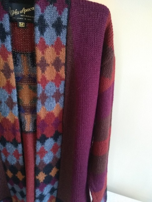 Other Dry Cleaning Handwash Dry Flat Made In Peru Baby Alpaca Sweater Image 3