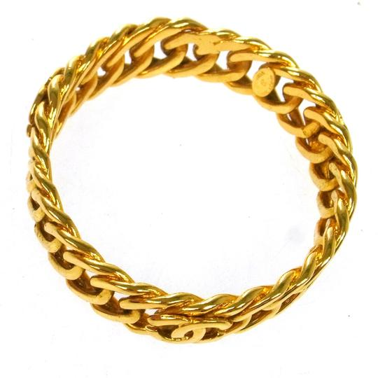 Chanel Chanel Gold Chain Mail Bracelet Image 2