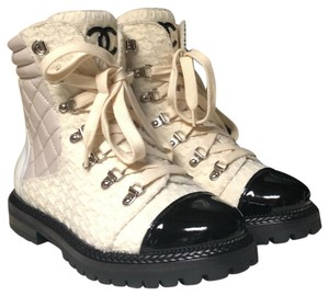 Chanel Ivory/Black Boots