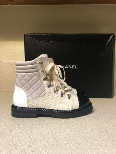Chanel Ivory/Black Boots Image 1
