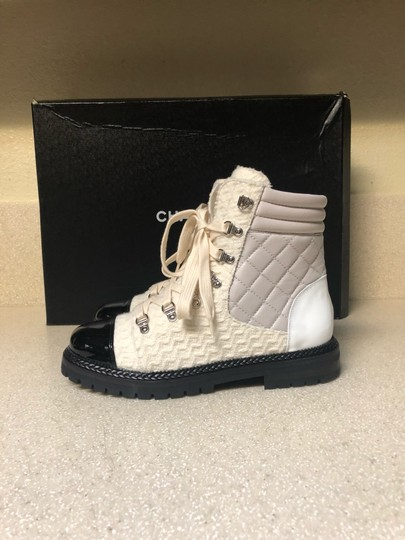 Chanel Ivory/Black Boots Image 2