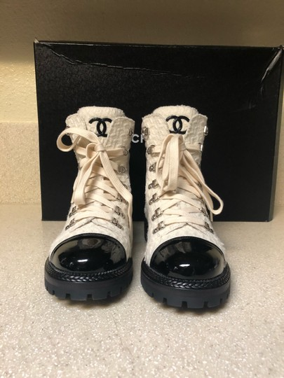 Chanel Ivory/Black Boots Image 3