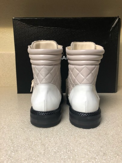Chanel Ivory/Black Boots Image 5