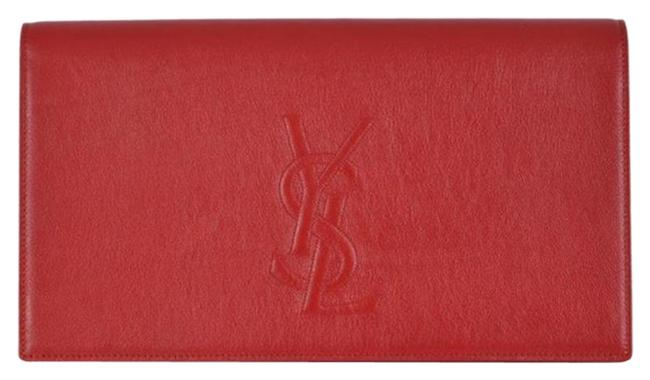 Item - Belle de Jour Yves 361120 Red Leather Clutch