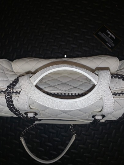 Chanel Satchel in white Image 5