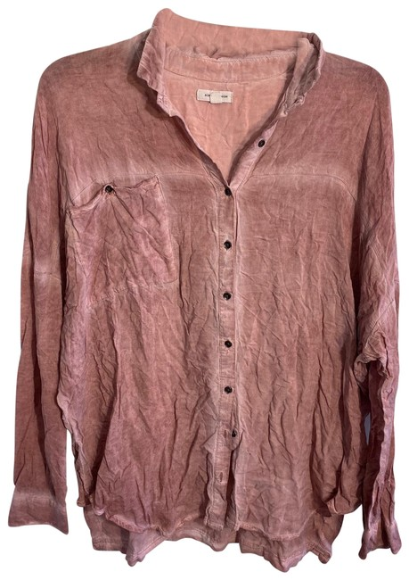 Preload https://img-static.tradesy.com/item/26250478/urban-outfitters-washed-button-up-button-down-top-size-8-m-0-1-650-650.jpg