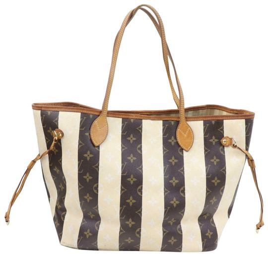 Preload https://img-static.tradesy.com/item/26250492/louis-vuitton-neverfull-rare-limited-edition-monogram-rayures-striped-mm-871543-brown-coated-canvas-0-1-540-540.jpg