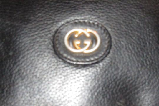 Gucci Rare Round Shape Mint Condition Leather/Gold Rare 'canteen' Edgy Modern Look Satchel in black with gold hardware Image 9