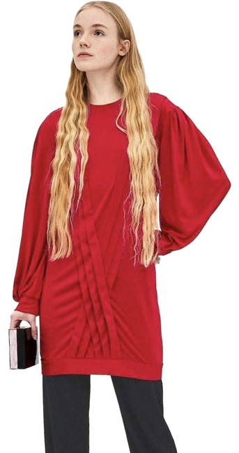 Item - Red L Long Sleeve Short Night Out Dress Size 14 (L)