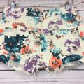 Free People Cut Off Shorts Cream and Teal Image 4
