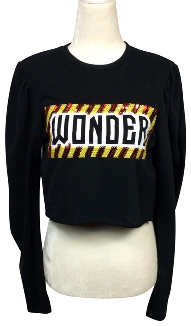 Preload https://img-static.tradesy.com/item/26250683/zara-black-and-red-wonder-sequin-cropped-sweatshirthoodie-size-4-s-0-1-650-650.jpg