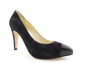 Chanel Cc Logo Coco Pigalle Pointed Romy Textured Black Pumps