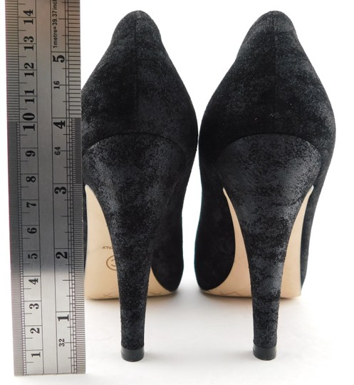 Chanel Cc Logo Coco Pigalle Pointed Romy Textured Black Pumps Image 7