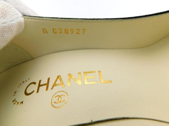 Chanel Cc Logo Coco Pigalle Pointed Romy Textured Black Pumps Image 9