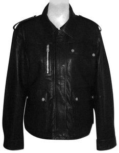 Bagatelle Army Army Leather Jacket