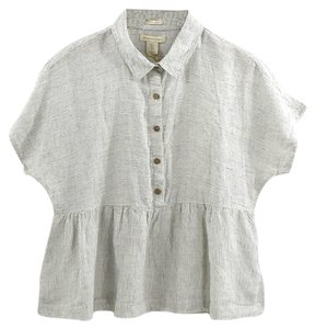 Catherine Malandrino Button Down Shirt WHITE
