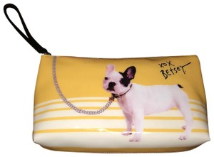 Betsey Johnson Wristlet in Mustard and White
