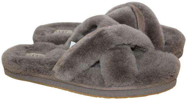 Item - Gray Abela Fluff Shearling Slippers Sandals Size US 10 Regular (M, B)