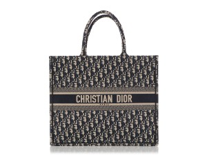 Dior Cd.q0919.09 Embroidered Tote in Blue