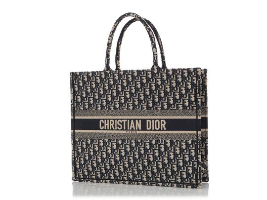 Dior Cd.q0919.09 Embroidered Tote in Blue Image 1