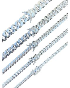 Harlembling Harlembling 925 Sterling Silver Miami Cuban Link Chain Or Bracelet