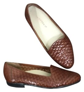 Trotters Woven Brown Flats
