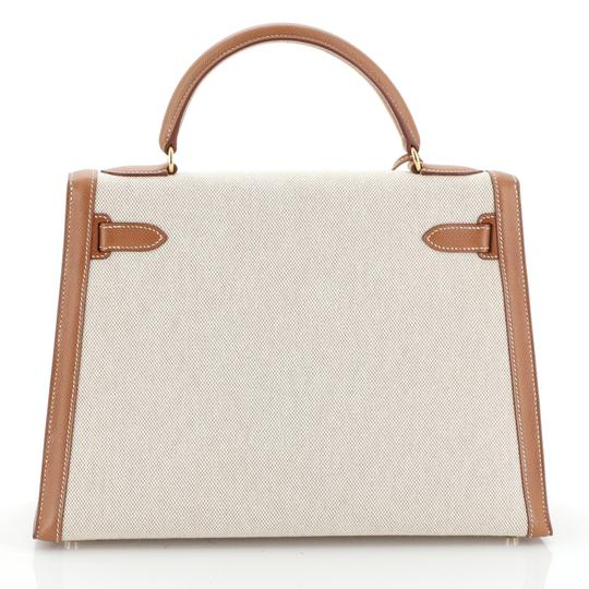 Hermès Kelly Leather Satchel in Neutral Image 3