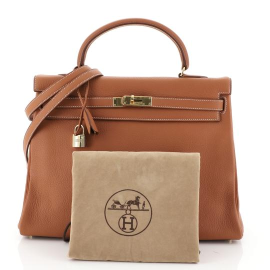 Hermès Kelly Leather Satchel in Brown Image 1