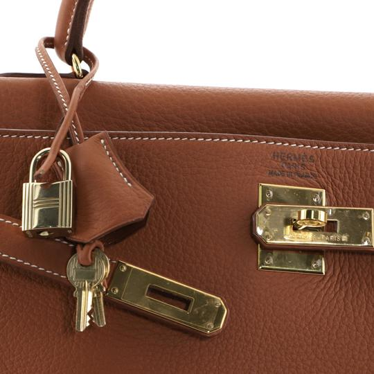 Hermès Kelly Leather Satchel in Brown Image 7