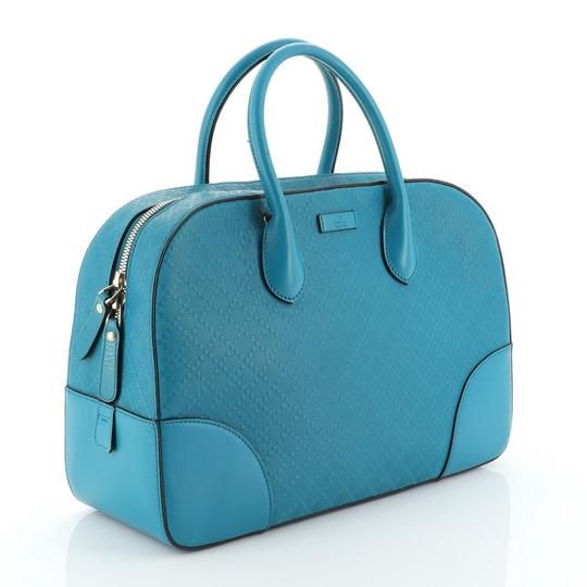 Gucci Leather Satchel in Blue Image 1