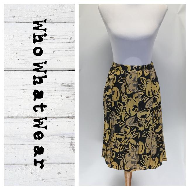 Preload https://img-static.tradesy.com/item/26251838/who-what-wear-x-target-blackyellow-a-line-skirt-size-10-m-31-0-0-650-650.jpg