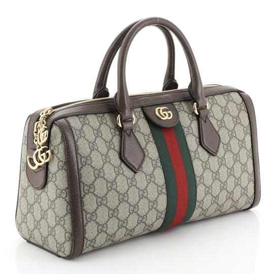Gucci Canvas Satchel in Brown Image 1
