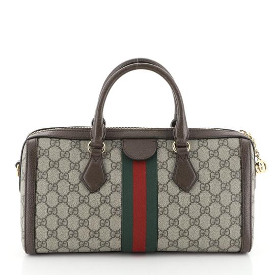 Gucci Canvas Satchel in Brown Image 2
