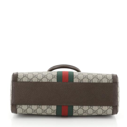 Gucci Canvas Satchel in Brown Image 3