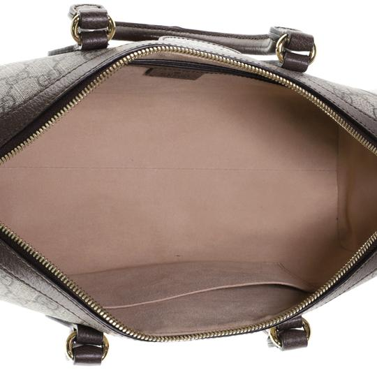 Gucci Canvas Satchel in Brown Image 4